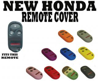 New Honda CRV CR V Key Fob Remote Cover 4 BTN Red