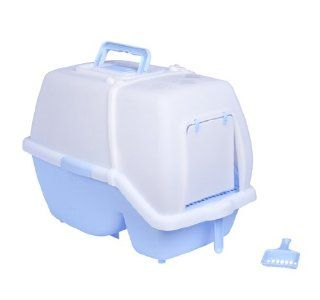 Pawhut Deluxe Easy Clean Covered Cat Litter Box w/ Scoop