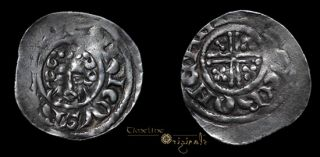 Henry III Silver Hammered Short Cross Penny Coin 007204