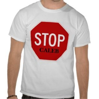 Stop Sign, CALEB Tee Shirts
