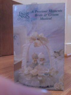 Collectible 1990 Precious Moments Bride & Groom Musical Cake Topper!!!
