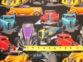 Rod Cars Bucket Coupe by Yards Alexander Henry Cotton Fabric