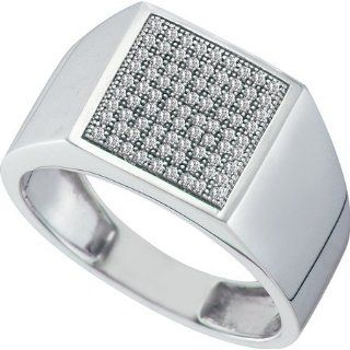 0.25CTW DIAMOND MICRO PAVE MENS RING Size 10 Jewelry