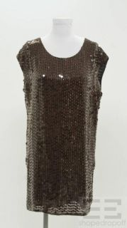 Haute Hippie Burgundy Sequined Black Silk Cap Sleeve Dress Size Small