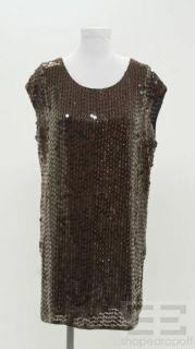 Haute Hippie Burgundy Sequined Black Silk Cap Sleeve Dress Size Small
