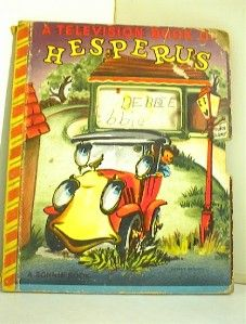 Television Book of Hesperus A Friendly Bonnie Book 1949 Edition Fair