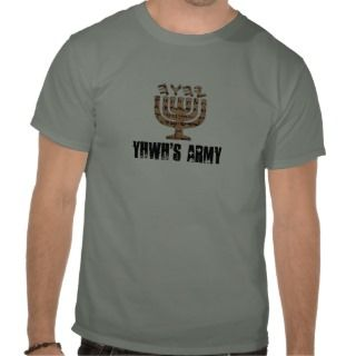 YHWH logo1 copy, YHWHS ARMY T Shirt