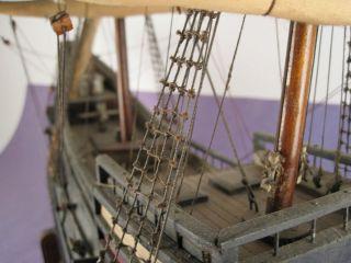 HAND MADE Wood Model Ship HALF MOON Henry Hudson Wooden Dutch Antique