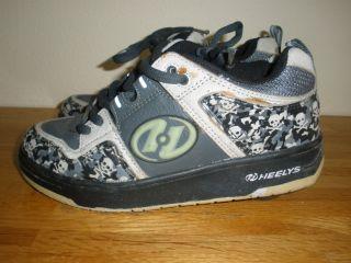 Heelys Skulls Bones Roller Wheels Shoes 7403 Youth 6
