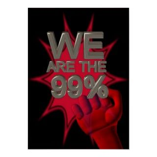 We are the 99% Occupy movement fist poster/sign