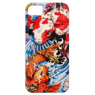 Cool oriental japanese Koi Fish lotus water tattoo iPhone 5 Case