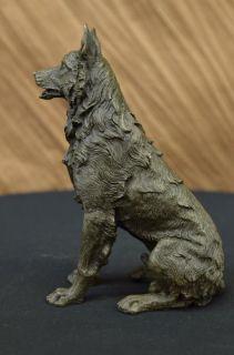 Bronze Sculpture German Sheppard by Henry Moore Dog Art Deco Figurine