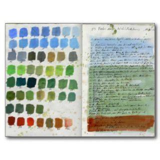 Postcard forest diary , Summer colour chart