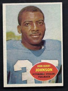 John Henry Johnson Steelers 1960 Topps Card 94