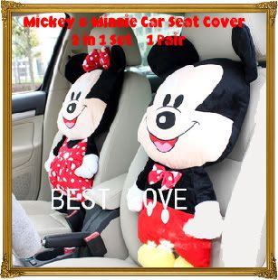 Mickey Minnie Mouse Muliti Home Car Use Seat Cover Cushion Nice
