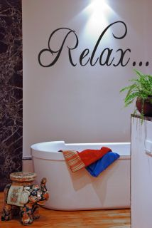 Tub Wall Quote Decal Saying Wall Lettering Home Decor 24 V2