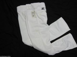 Youth Baggy Baseball Pants White Russell Athletic Pick Size Small Med
