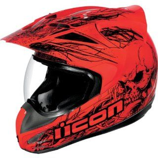 Icon Variant Urban Assault Full Face Motorcycle Helmet Red