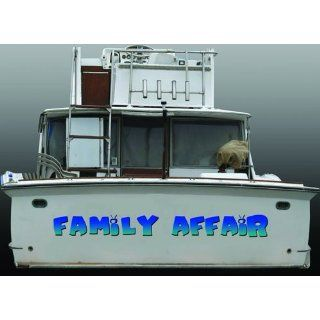 Boat Name Family Affair  vinyl decal sticker ANY Color, ANY Size, ANY