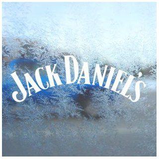 Jack Daniels White Decal Vintage Car Window Laptop White