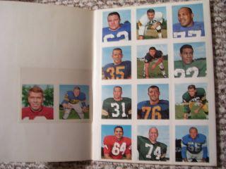 1964 Wheaties NFL Stamp Album Unusedcomp Set Bart Starr Jim Brown