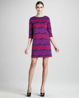 Nicole Miller Print Front Shift Dress