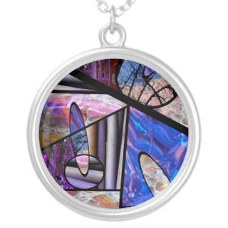 Stain Glass Photo Collage Pendant