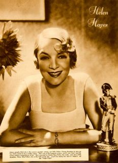 1933 Rotogravure Helen Hayes Night Flight Portrait Actress Movie Film