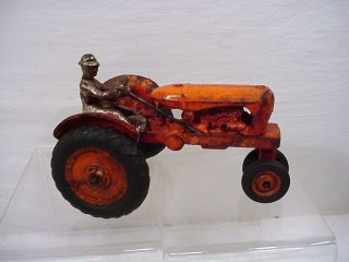 VINTAGE ANTIQUE CAST IRON ALLIS CHALMERS FARM TRACTOR TOY BY ARCADE