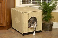 Mr Herzhers Large Natural Wicker Cat Litter Box Cover