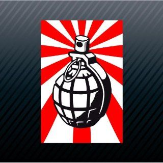 Grenade Japan Rising Sun Flag Japanese Car Trucks Sticker