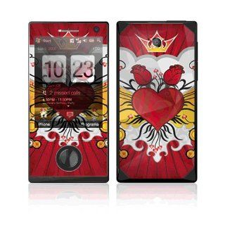 Rose Heart Decorative Skin Cover Decal Sticker for HTC