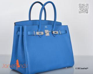 WOW Hermes Birkin Bag 35cm Mykonos Togo w Palladium