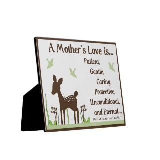 Willow Deer Mothers Love Poem Plaque