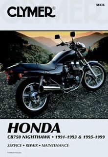 91 99 Honda CB750 CB 750 Nighthawk Clymer Repair Manual