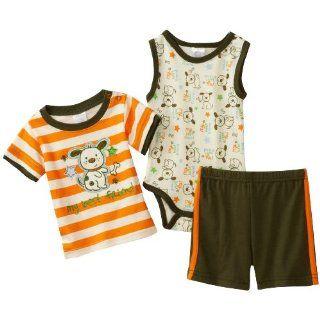 Cutie Pie Baby Boys Newborn 3 Pack My Best Friend T Shirt