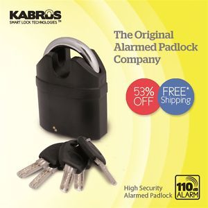 Lock Alarmed Pad Lock Patio Door Gates Shed High Security Locks