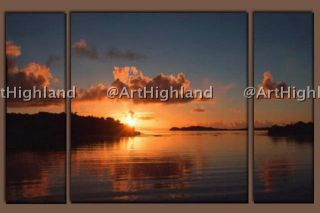 54 Seascape Oil Paintings Canvas Art Deco Lake Sunrise