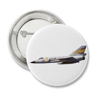 106 Delta Dart Fighter Aircraft Pinback Button