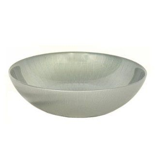 Grehom Recycled Glass Salad Bowl   Grey; Hand made