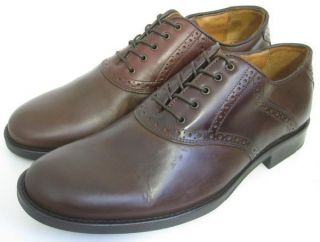 Murphy Mens Shoes Brown Leather Headley Saddle Oxfords 10 5 M
