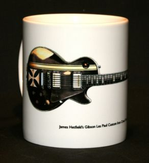 Guitar Mug James Hetfields Gibson Les Paul Iron Cross Illustration