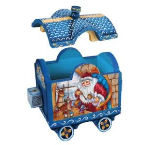 DeBrekht Holiday Express Train Box 52921 2 Christmas Santa Figurine