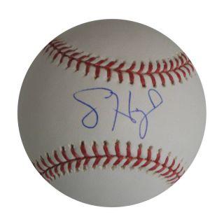 Look Jason Heyward Autographed Baseball Auto MLB COA Braves