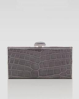 Judith Leiber East West Rectangle Clutch Bag, Gray