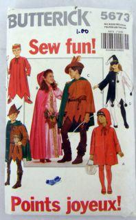 Robin Hood Marion Cape Uncut Costume Pattern Halloween Hood