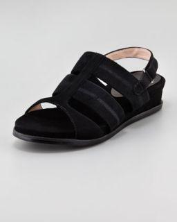 X1FZG Taryn Rose Shirley Stretchy Slingback Sandal, Black