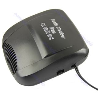 Vehicle Portable Ceramic Heater Heating Cooling Fan Defroster Black