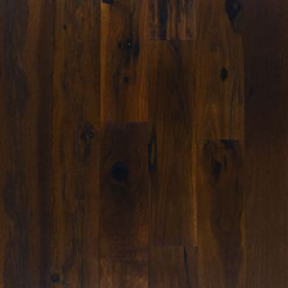 Smooth Carbonized Hickory Hardwood Flooring Wood Floor
