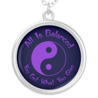 Purple Balance Yin Yang Necklace